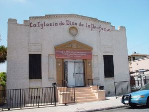 La Iglesia de Dios de la Profecía. The face of the building before the beautification.