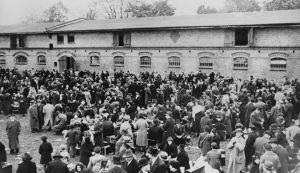A group of 7,000 Jewish people expelled from Germany by the German Nazi authorities and living in Zbaszyn on the Polish-German border, 3rd November 1938. More than a thousand are staying in a stable and others are in huts provided by the authorities. The German action is in response to the Polish government�s removal of the Polish citizenship of Jews living outside the country. A total of 17,000 German Jews were expelled from Germany over this issue. (Photo by Keystone/Hulton Archive/Getty Images)