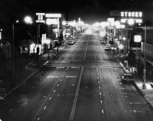 First night of the Cruising Ban; Whittier Blvd, East Los Angeles, March 23rd, 1979.