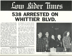 Lowrider Banned March 1979