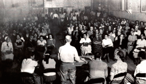 Community Service Organization meeting in 1955. Photo: www.fredrosssr.com.