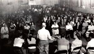 Community Service Organization meeting in 1955. Photo: www.fredrosssr.com.