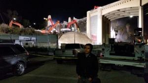 Shmu at the demolition of the Sixth Street Bridge