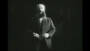 "Rosenblatt, on stage in the movie ""The Jazz Singer."" (1927)"