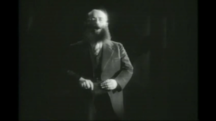 "Rosenblatt, on stage in the movie ""The Jazz Singer."" (1927)"