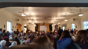 From the front of the church, a view of the crowd that packed in to the parish church.