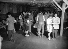 Japanese Americans removed from their Los Angeles homes attend a dance at the government's camp at Manzanar, California, on March 23, 1942.