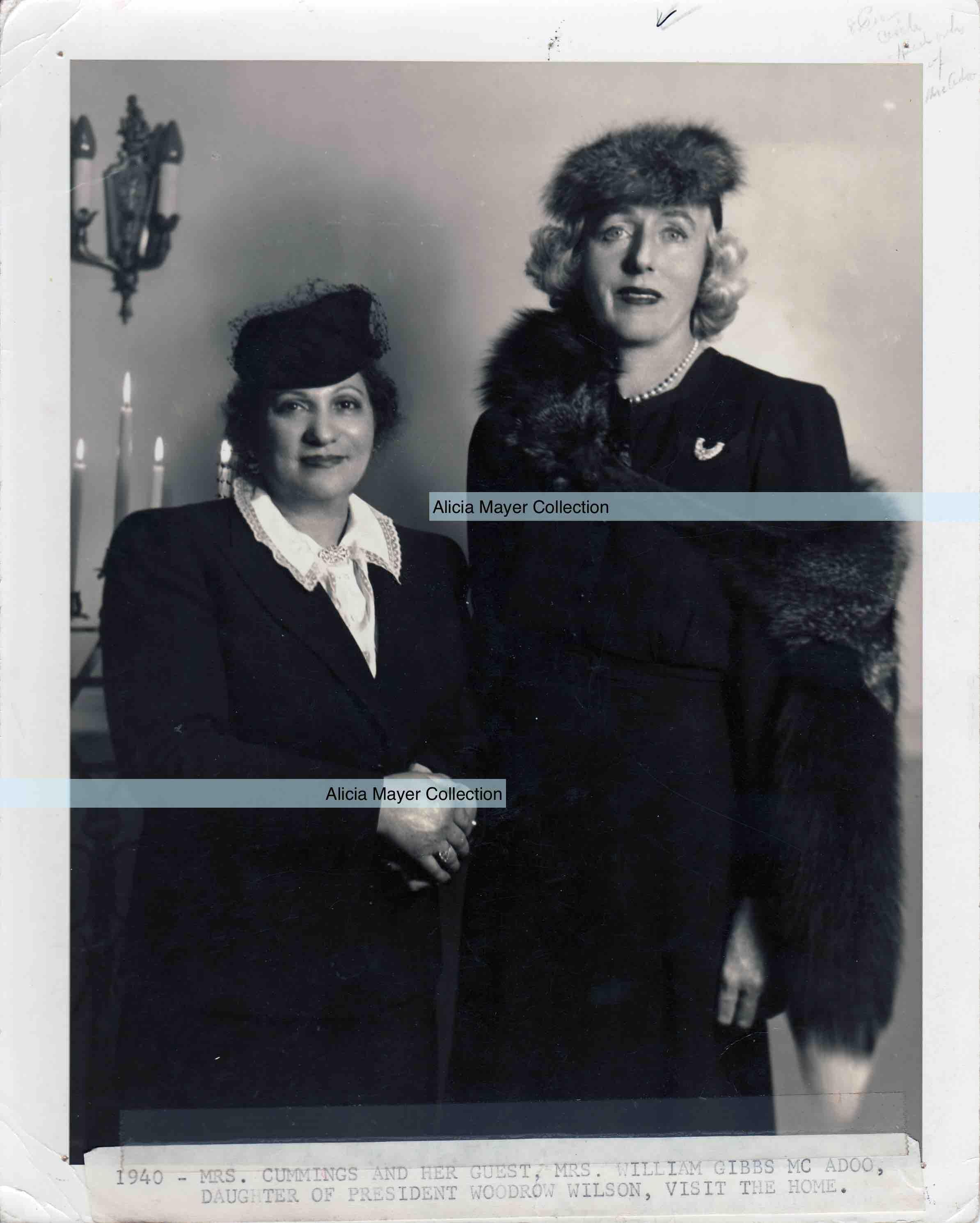 Ida + Mrs William Gibbs McAdoo daughter of Woodrow Wilson watermark