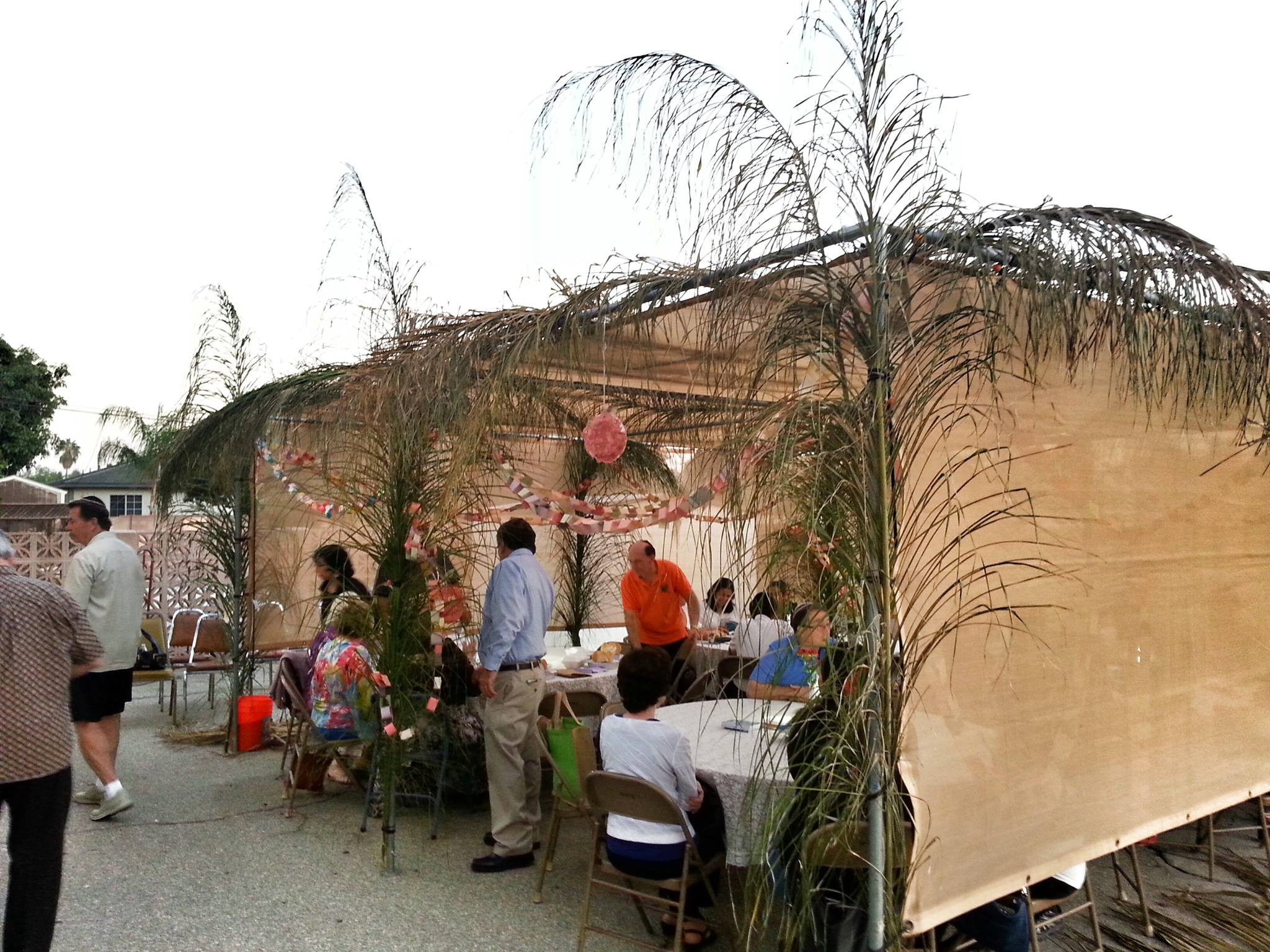 A Sukkah party at Beth Shalom of Whittier